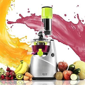 Cecotec Licuadora para frutas y verduras de prensado en frío, extractor de jugo con canal