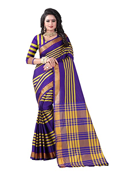 7cba0666f4 Widespread Collection Raw Silk Saree With Blouse Piece (wide219_Multi_Free  Size)