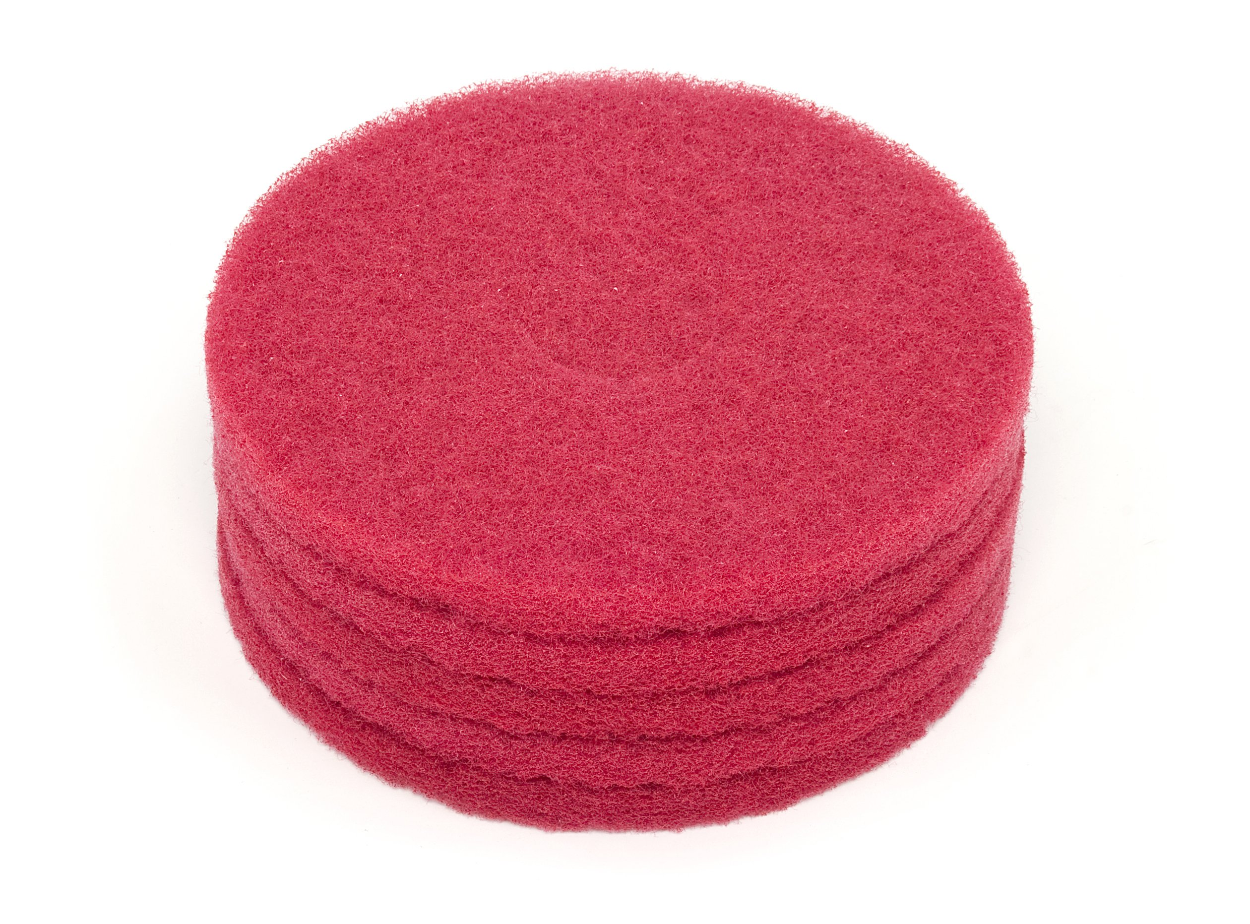 Nilfisk-Advance 976068 Commercial 20 Inch Diameter Red Scrub Pad, Case of 5
