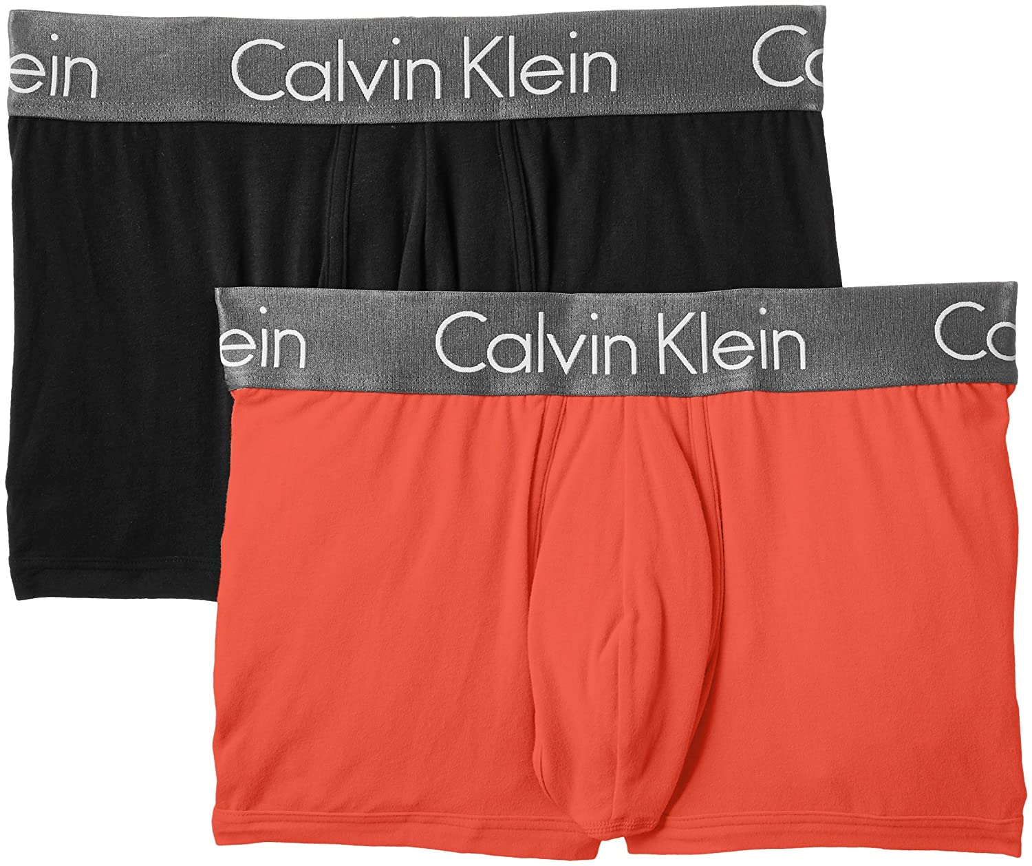 CALVIN KLEIN 3 Pack Low Rise Contrast Waistband Trunk