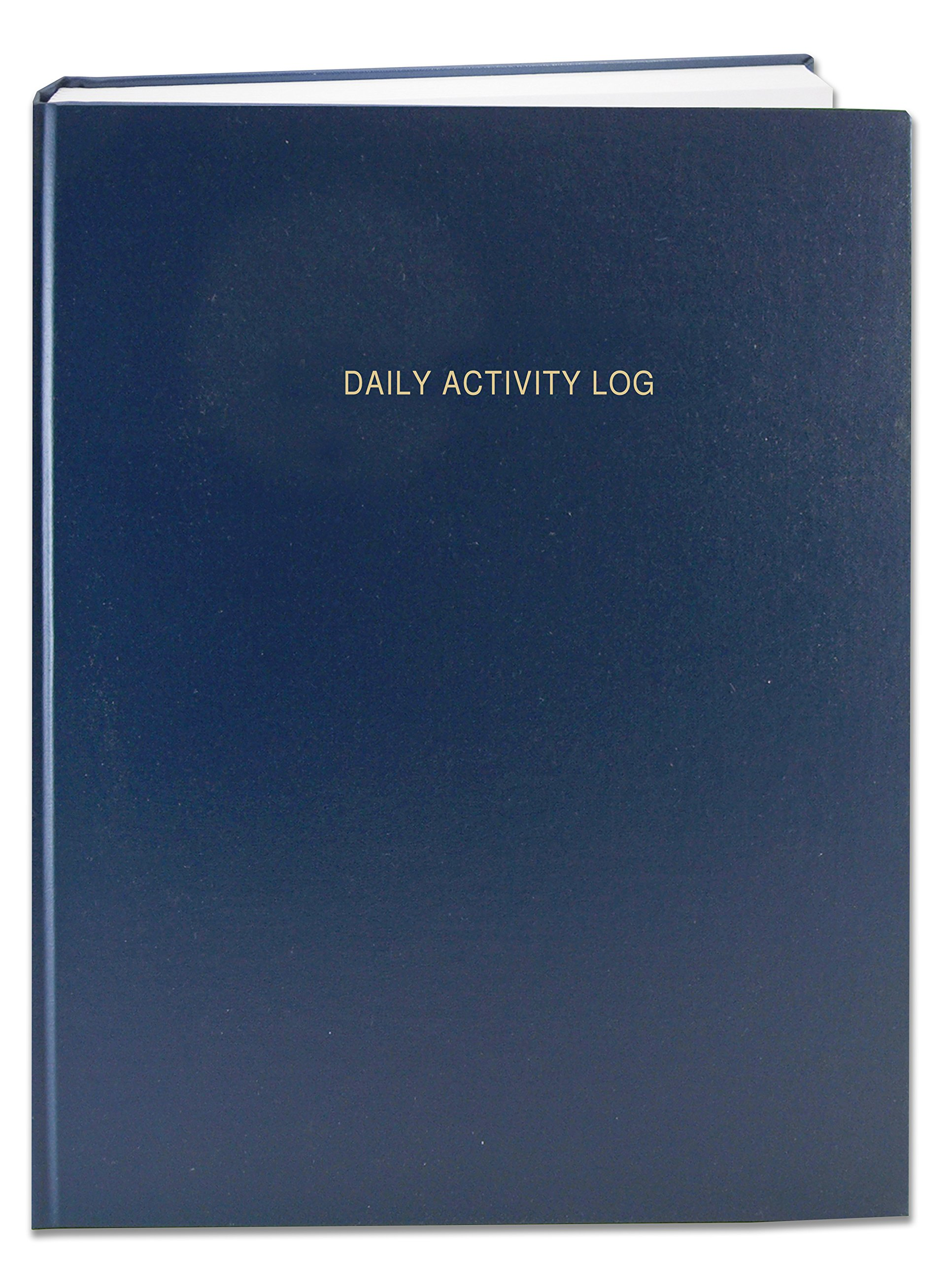BookFactory Daily Activity Log Book / 365 Day Log Book (384 Pages) / 365 Page Diary, Blue Cover, Smyth Sewn Hardbound, 8 7/8'' x 11 1/4'' (LOG-384-DAY-A-LBT32)
