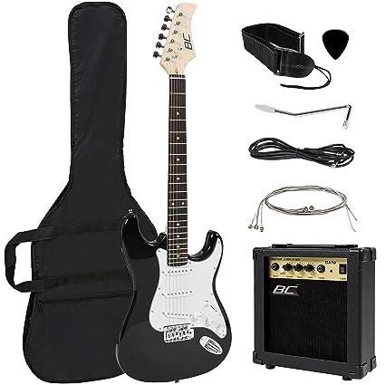 Tamaño completo guitarra eléctrica bolsa de 10 W amplificador + funda + funda + correa para
