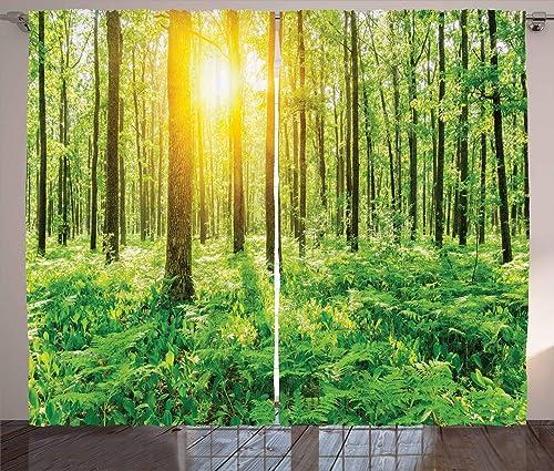 Ambesonne Woodland Curtains