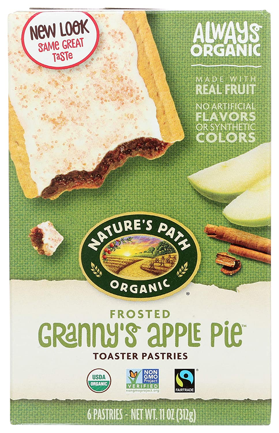 Nature's Path, Toaster Pastries, Apple Cinnamon Frosted, 6 Ct