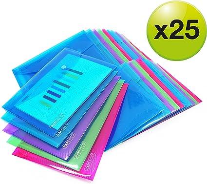 Rapesco 1498 - Pack de 25 carpetas con cierre de corchete, A5 ...