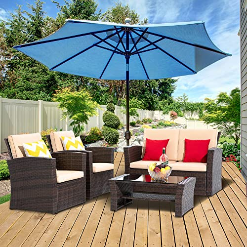 LayinSun 4 Piece Outdoor Patio Furniture Set