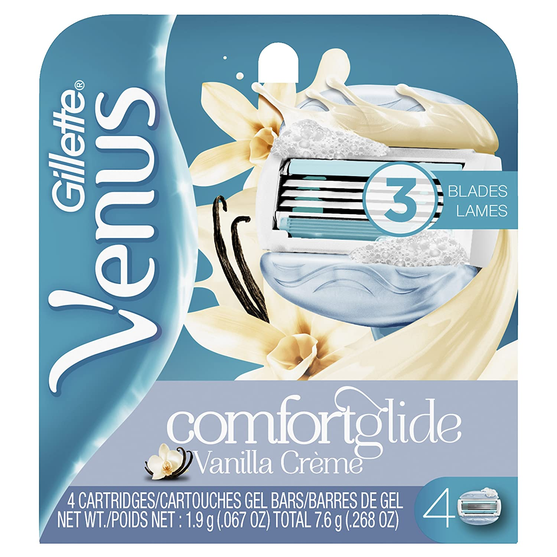 Gillette Venus ComfortGlide Vanilla Crème Women's Razor Blades - 4 Refills