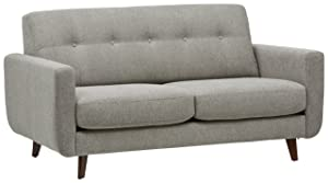 Rivet Sloane Mid Century Modern Sofa with Tufted Back
