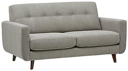 Rivet Tufted Modern Sofa, Pebble – Sloane Mid-Century Modern, 64\