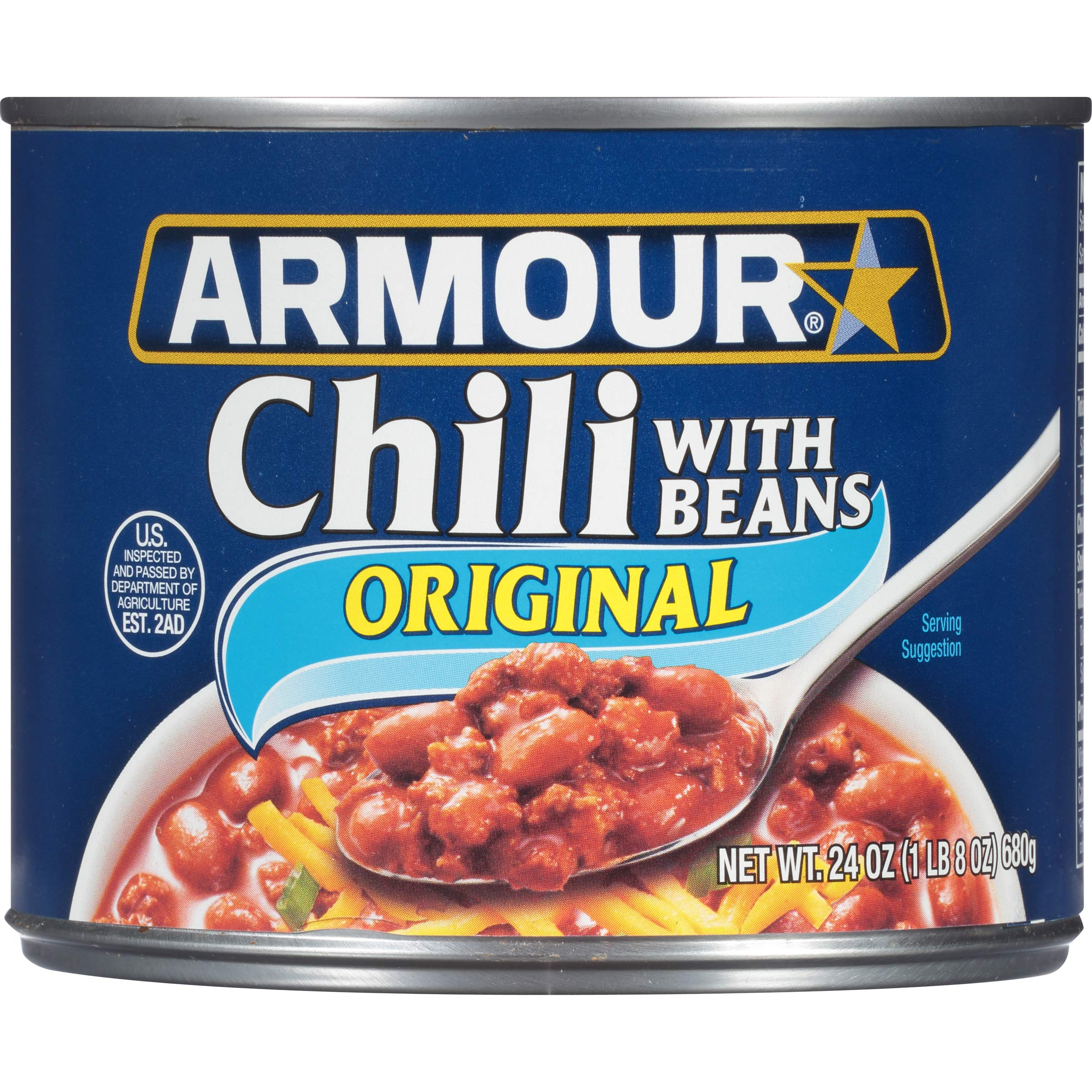 Armour Chili with Beans, 24 Ounce (Pack of 12)