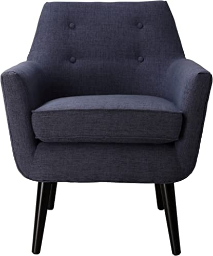 TOV Furniture Clyde Collection Mid Century Upholstered Tufted Living Room Accent Chair