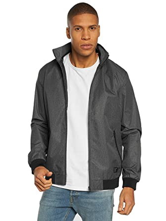 6047f54342a3 Jack   Jones Mens Bane Jacket in Grey Marl- Zip Fastening- Funnel ...