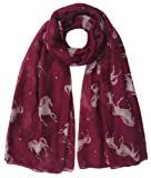Lina & Lily Unicorn Animal Print Women's Scarf Oversized