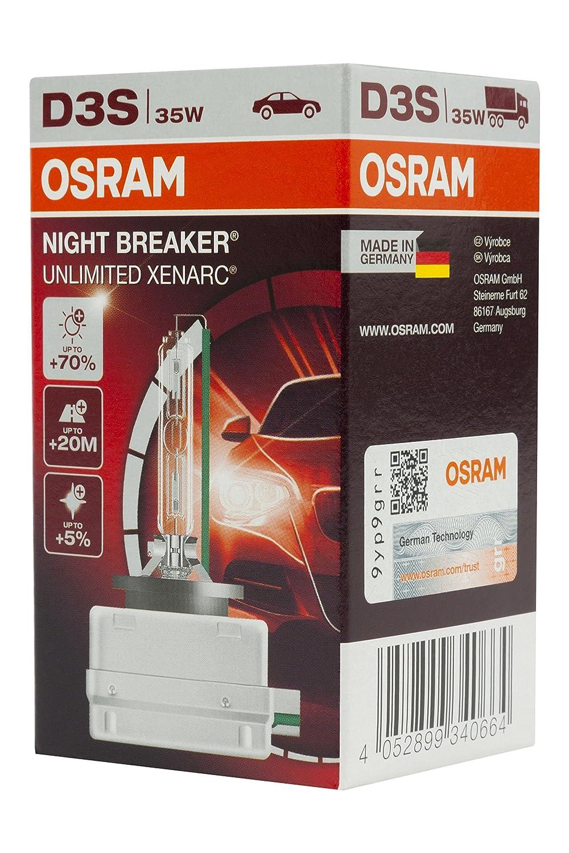 l/ámpara de xen/ón estuche 66340XNB OSRAM XENARC NIGHT BREAKER UNLIMITED D3S HID l/ámpara de descarga 1 unidad