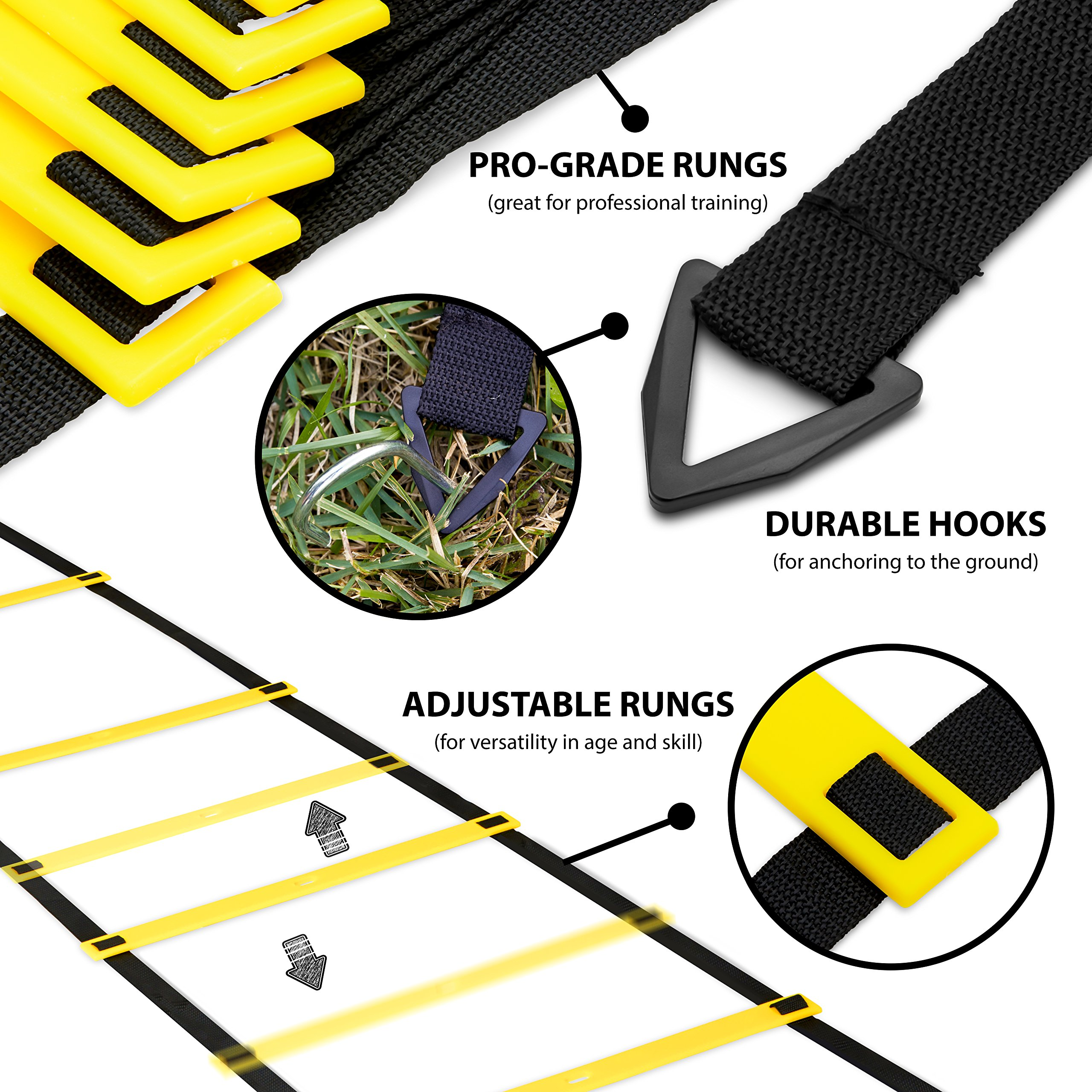 Perfect Soccer Skills Premium Soccer Training Agility Ladder + Free Carrying Bag by Perfect Soccer (Image #5)