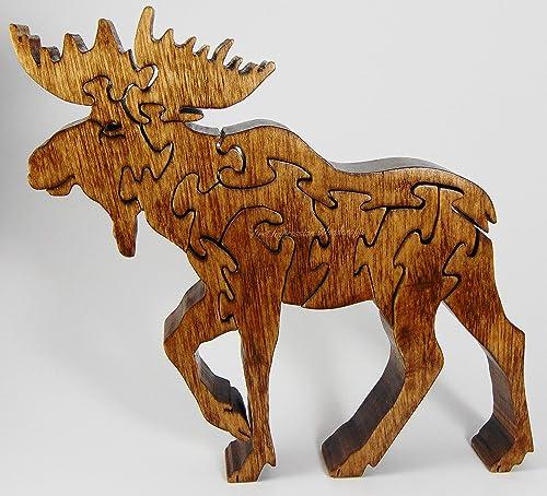 woodland animal home decor amazon com majestic moose handmade woodland animal puzzle  home  majestic moose handmade woodland animal