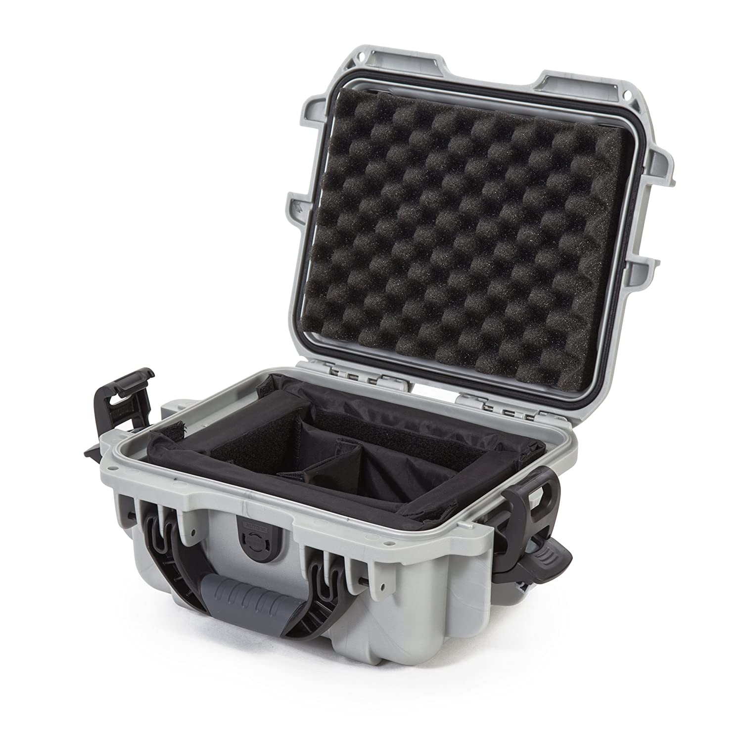 Nanuk 905 Waterproof Hard Case with Padded Dividers - Silver Plasticase Inc 905-2005