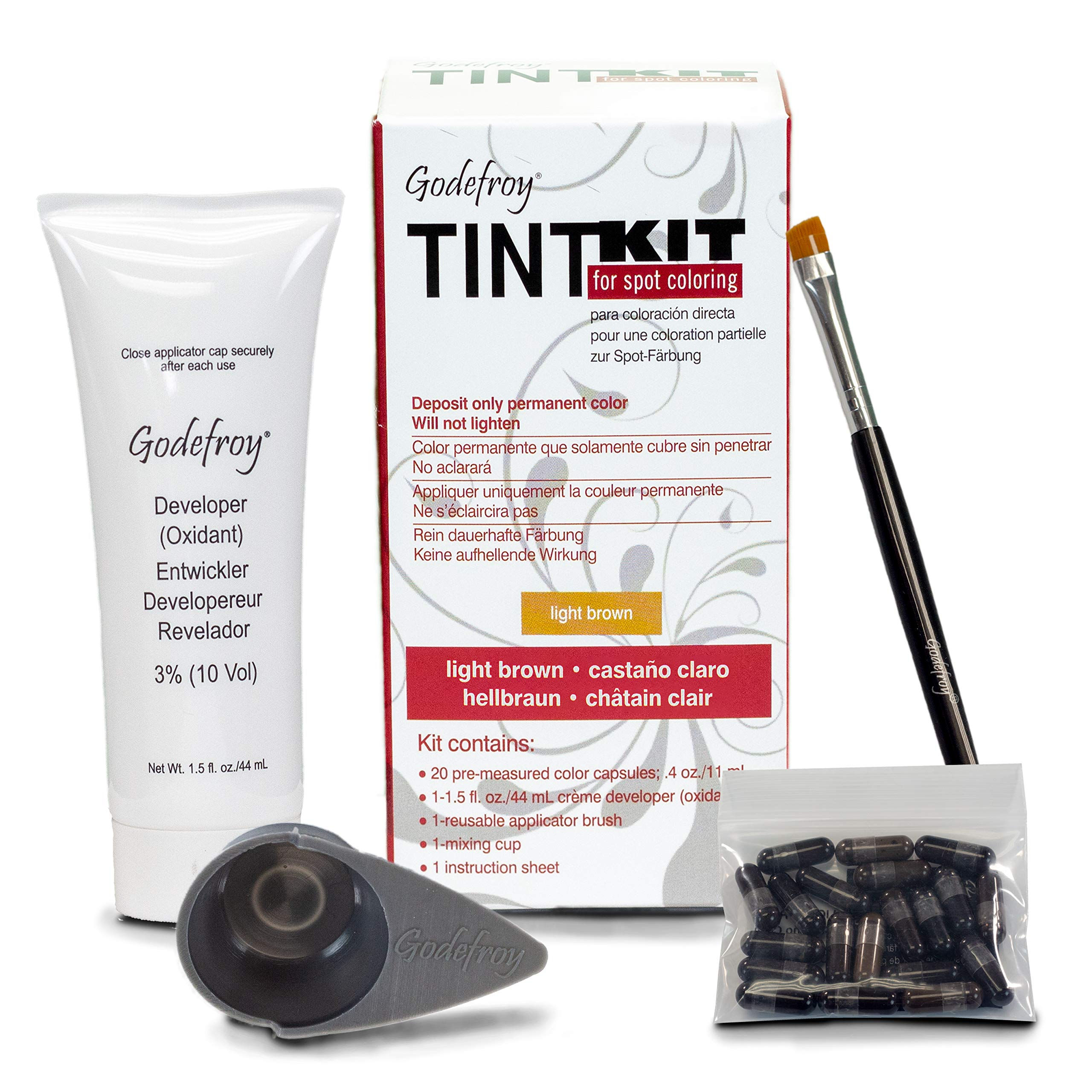 Godefroy Professional Tint Kit, Light Brown, 20 Count by Godefroy