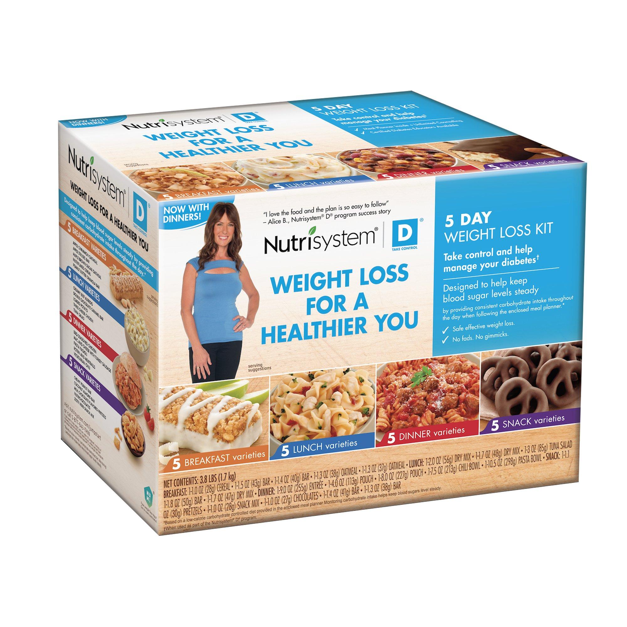 Nutrisystem D 5 Day Weight Loss Kit Diabetic Kit Now