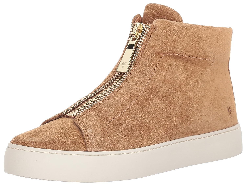 FRYE Women's Lena Zip High Fashion Sneaker B01MT27BLN 5.5 B(M) US|Tan Soft Oiled Suede