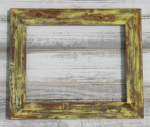 Amazon.com: Distressed Soft Yellow Wood Frame, Rustic Sunflower ...