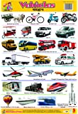 WALL CHARTS PLASTIC NON TEARABLE OF VEHICLES FOR KIDS
