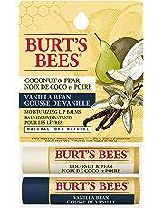 Burt's Bees 100% Natural Moisturizing Lip Balm, Coconut Pear & Vanilla Bean - 2 Tubes