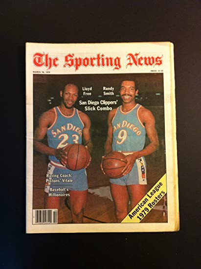 1979 Sporting News March 10 Lloyd Free and Randy Smith San