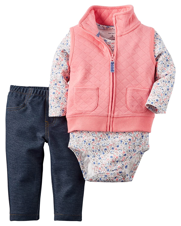 330f39ab1332 Amazon.com   Carter s Baby Girls  3 Piece Vest Set (Baby)