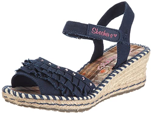 Skechers Tikis Ruffle Ups, Girls Sandals, Blau (DEN), 10.5
