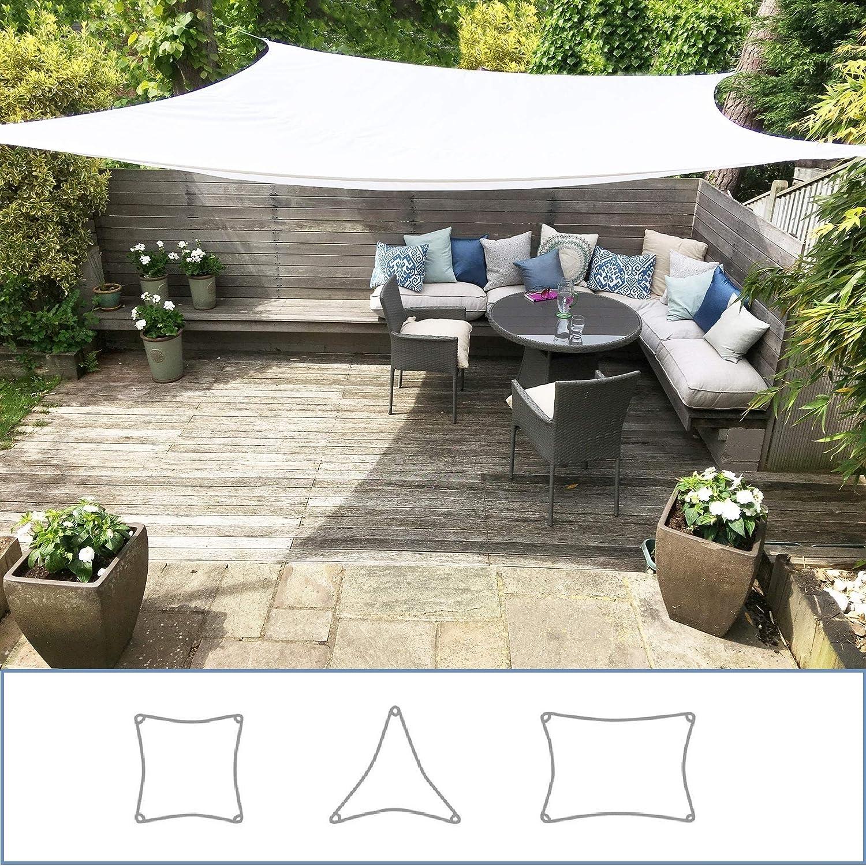 Rectangle 3m x 4m 98/% Protezione UV Impermeabile Blanco Clara Shade Sails Vela Tenda Parasole da Giardino//Veranda Premium Sun