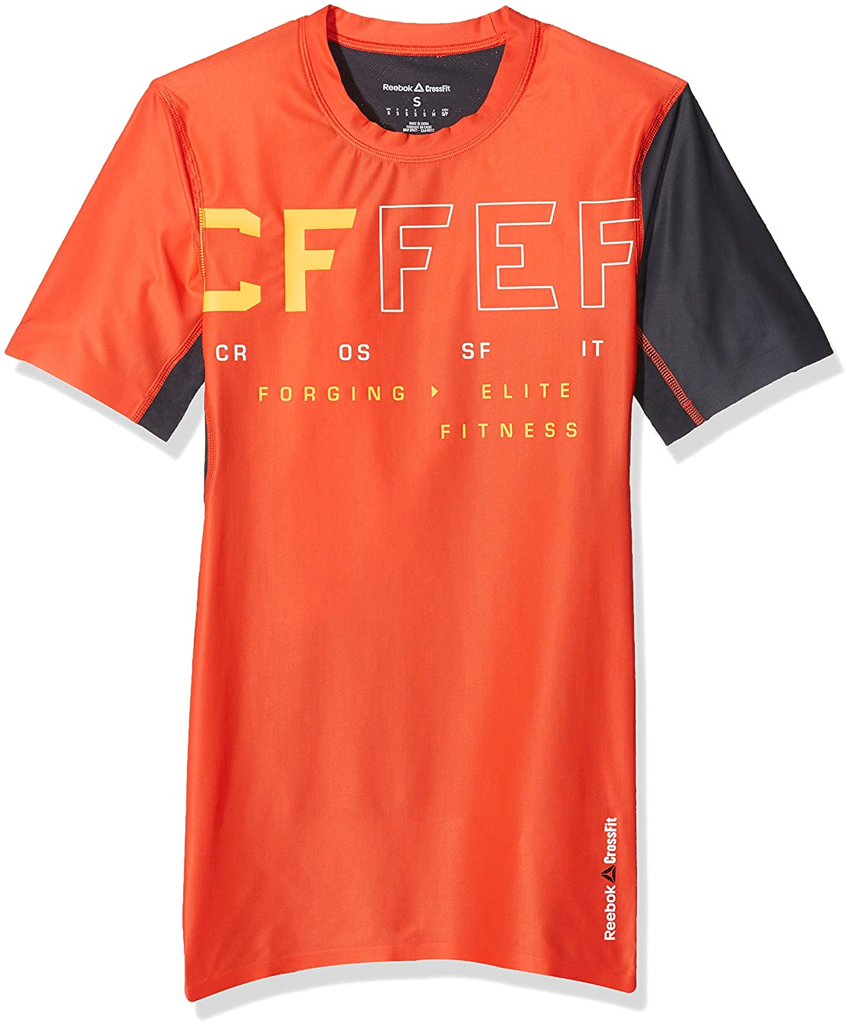 Hombre Reebok Rcf Ss Compression Top Camiseta
