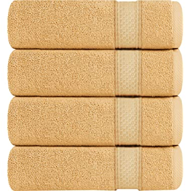 Utopia Towels Premium Bath Towels, 4 Pack, 700 GSM Towels, Beige