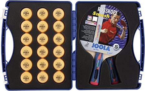 JOOLA Tour Expert Carrying Case - Ping Pong Paddle Set Includes 2 ITTF APPROVED Rossi Smash Table Tennis Paddles & 18 40mm 3 Star Tournament Ping Pong ...