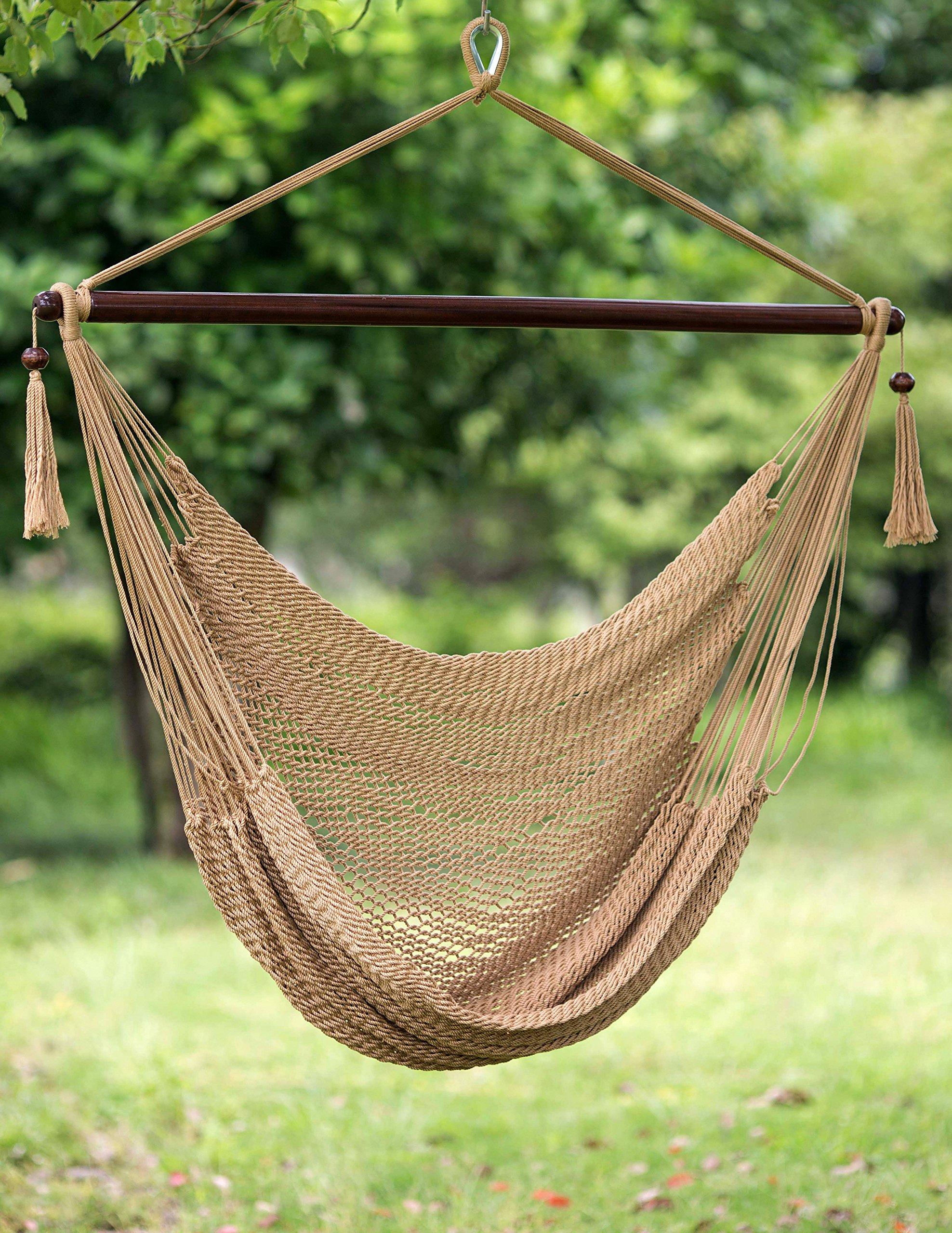 Merax Brown Hammock Chair Outdoor Chair Hanging
