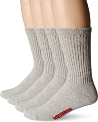 Wolverine Mens 4 Pack Cotton Crew Sock
