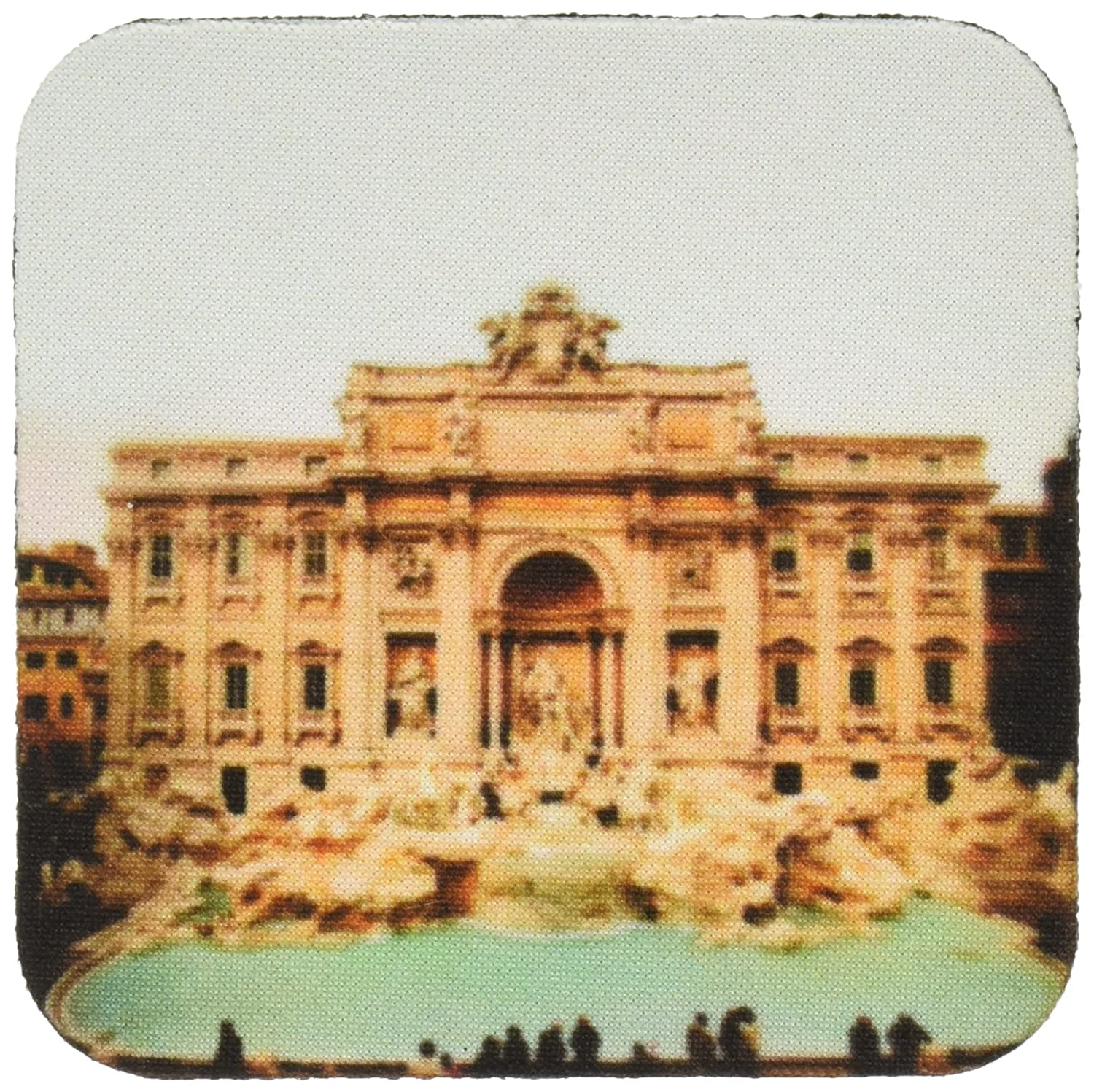 Set of 8 3dRose cst/_1137/_2 Trevi Fountain Italy Soft Coasters