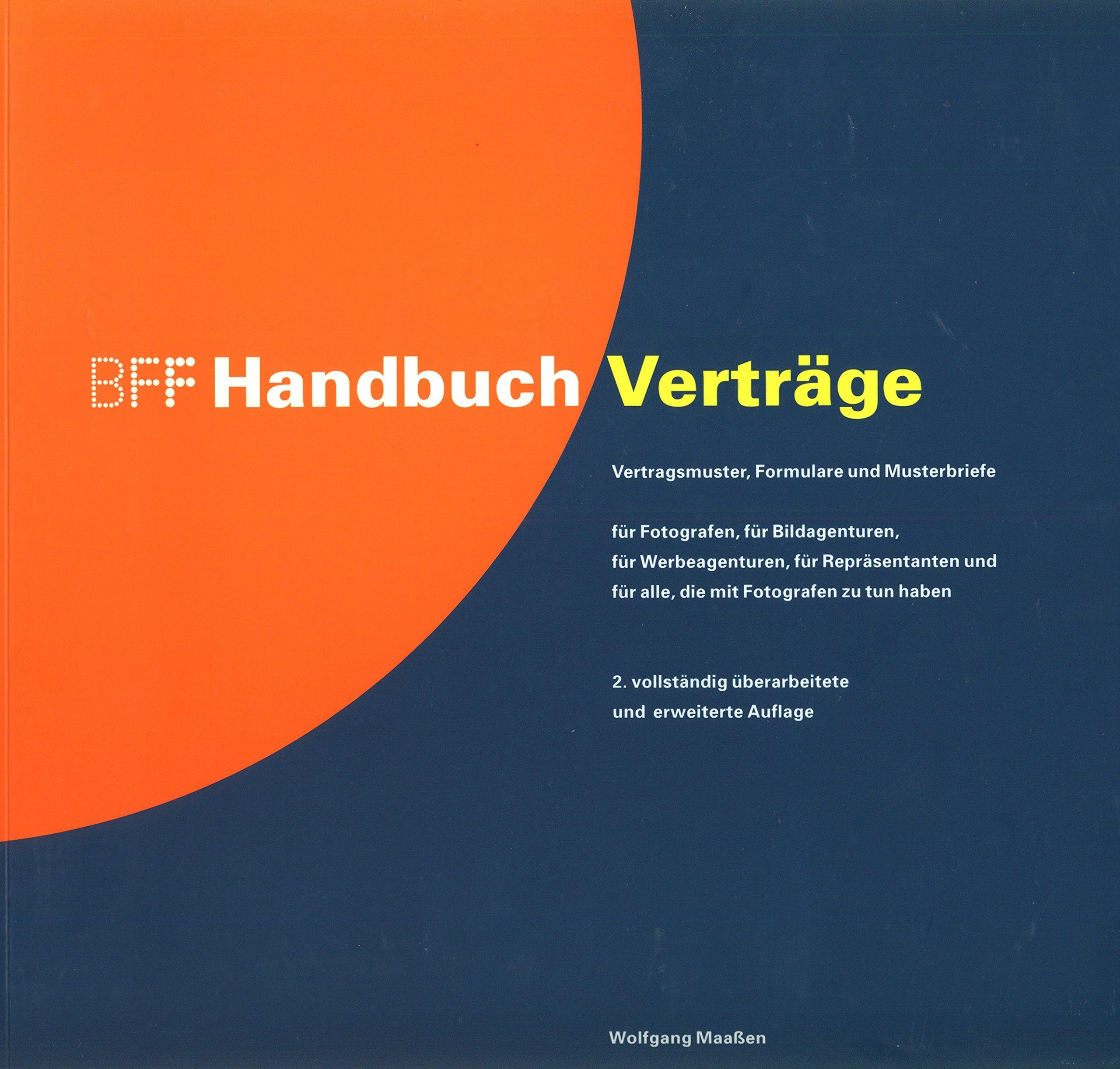 Bff Handbuch Verträge Vertragsmuster Formular Musterverträge Für