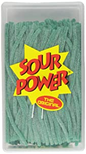 DORVAL TRADING CO Sour Power Straws, Green Apple, 49.4000-Ounce Tubs (Pack of 2400)
