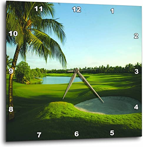 3dRose DPP_80826_3 Golf Course on Thailand-Wall Clock, 15 by 15-Inch