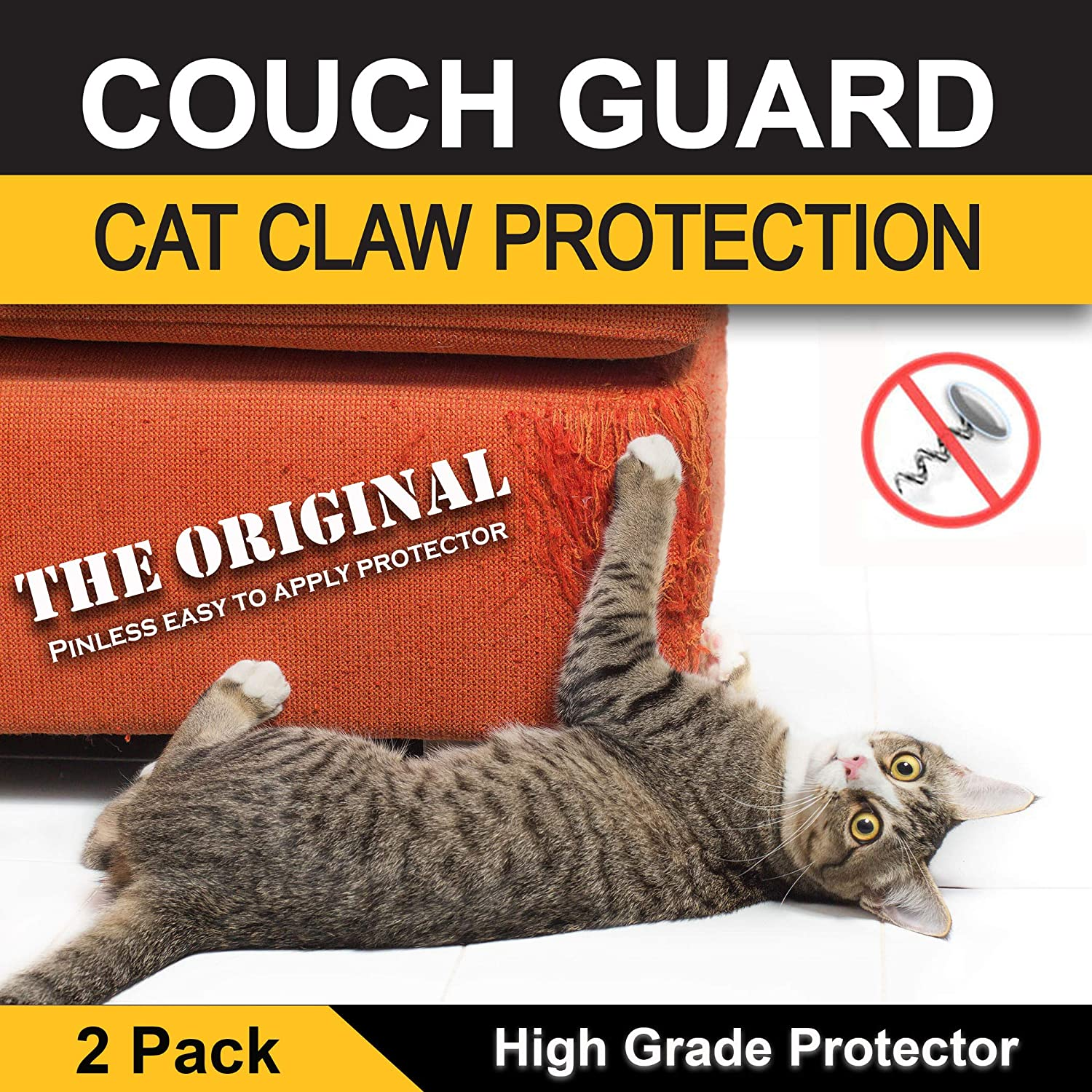 Amazon Couch Guard Upholstery Cat Claw Protector Includes 2