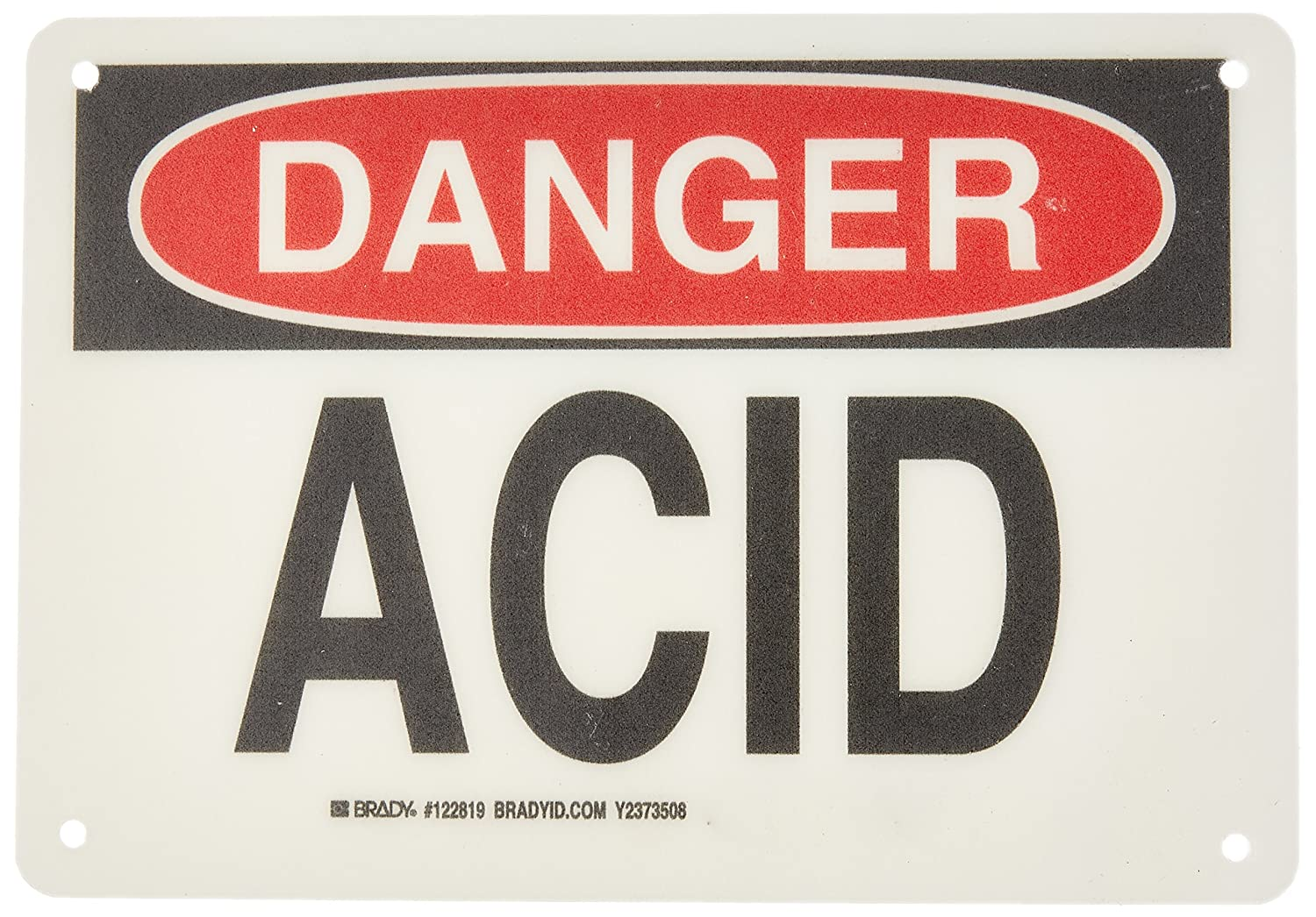Brady 122819 Chemical and Hazardous Materials Sign