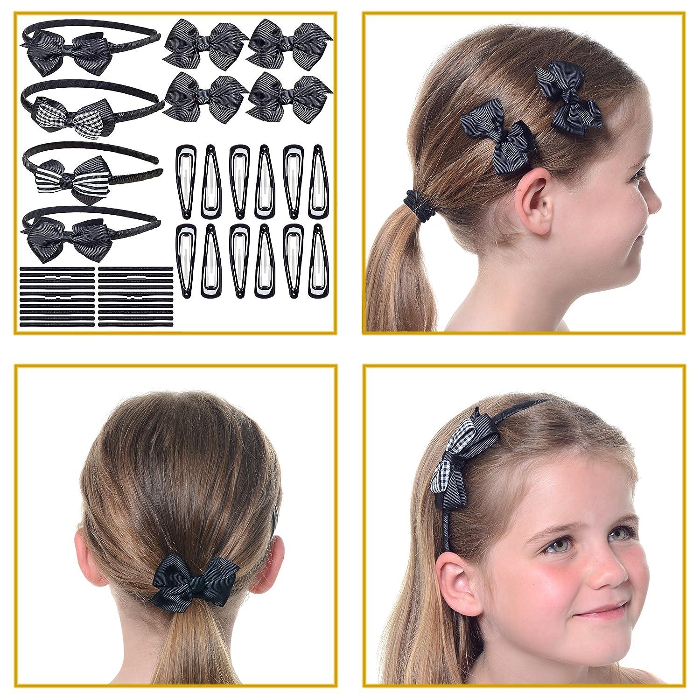 Haar Accessoire Set für Mädchen Haarreifen Haarclips