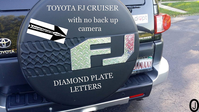 Amazon.com: Toyota FJ Cruiser Diamond Plate Letters F J Fits >>> 2007-14:  Automotive