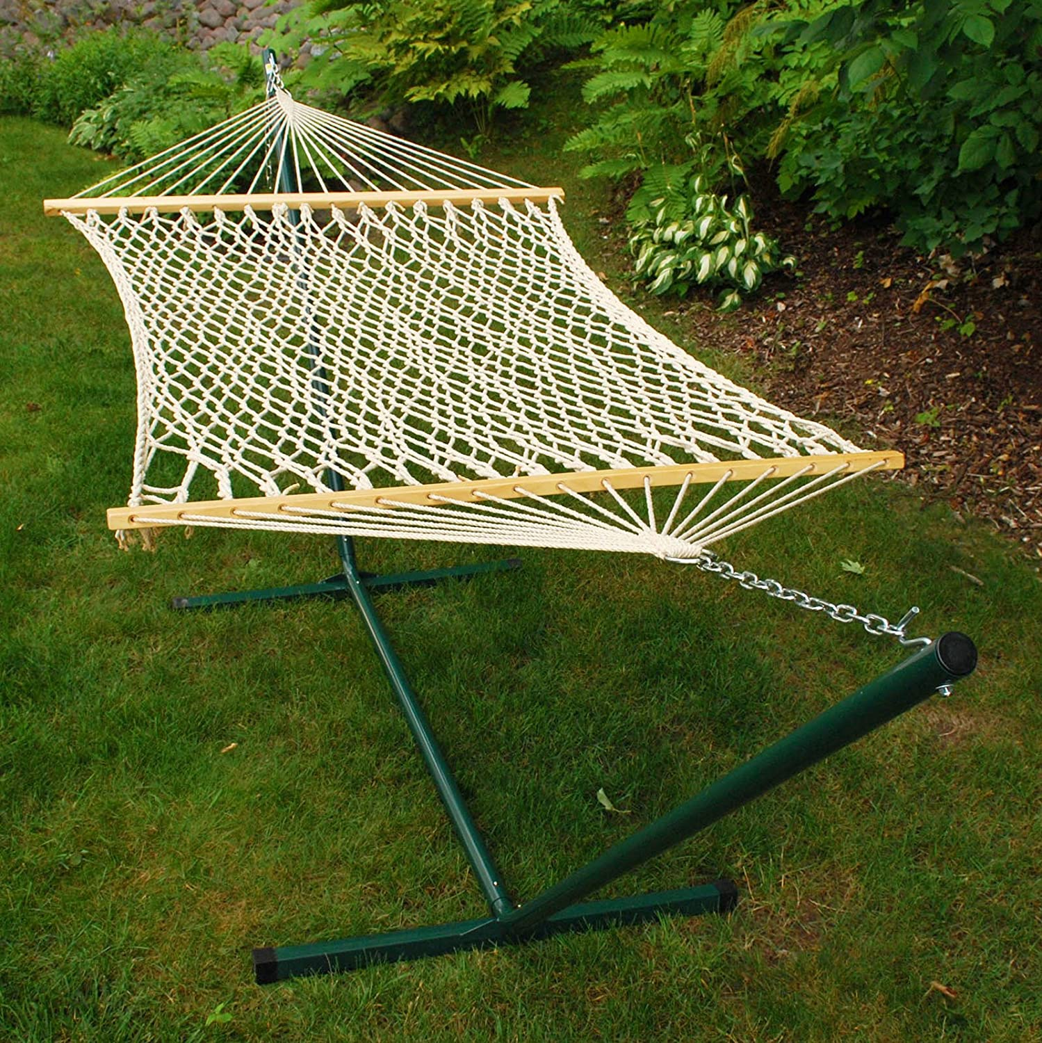 amazon     algoma 6250 two point inidual rope hammock and stand  bo   hammock with stand   garden  u0026 outdoor amazon     algoma 6250 two point inidual rope hammock and      rh   amazon