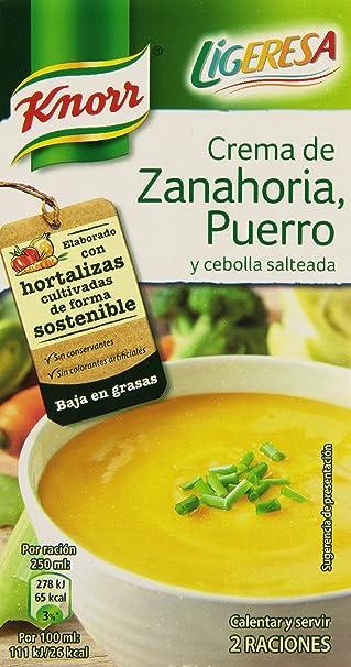 Knorr Crema Líquida de Zanahoria, Puerro y Cebolla - 500 ml
