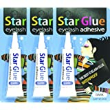 3packs of Star Eyelash Glue for Strip Lashes (Dark) 7g (1/4oz)