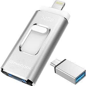 Unidad Memoria Flash USB 3.0 32 GB Memoria Lápiz Drive OTG PHICOOL [4 en 1] con Type C Conector USB Mirco Expansión de Memoria para iPhone, iPad, Android, PC: Amazon.es: Electrónica