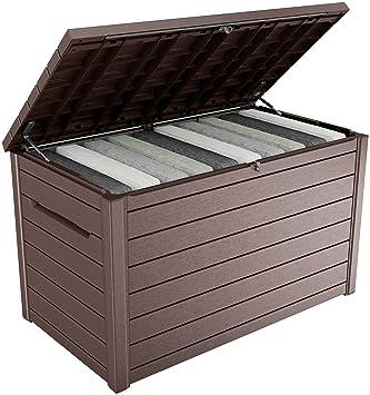 Keter - Arcón exterior Ontario, Capacidad 870 litros, Color marrón: Amazon.es: Jardín