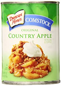 Comstock Original Pie Filling & Topping, Country Apple, 21 Ounce (Pack of 12)